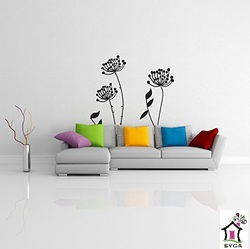 SYGA FLORAL BLACK CHERRY VINE WALL STICKERS
