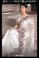 White wedding Saree,Bridal sari