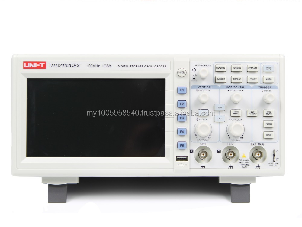 Uni T Utd2102cex Oscilloscope Digital Storage 1g Sample Rate 100mhz Bandwidth Atv 250cc free Shipping