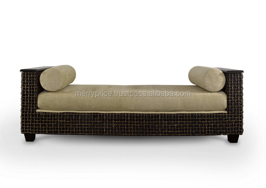 AWANA DAYDED : Wooden Lounge Daybed Outdoor garden Rattan Daybed Malaysia