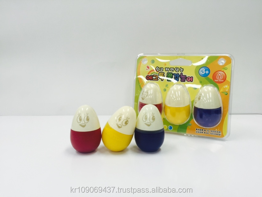 Educational Drawing Toys! EGGTOK vivid-3color washable kids paint drawing toys
