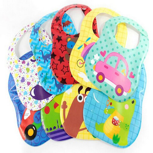 Promotional customed EVA waterproof kids baby bib