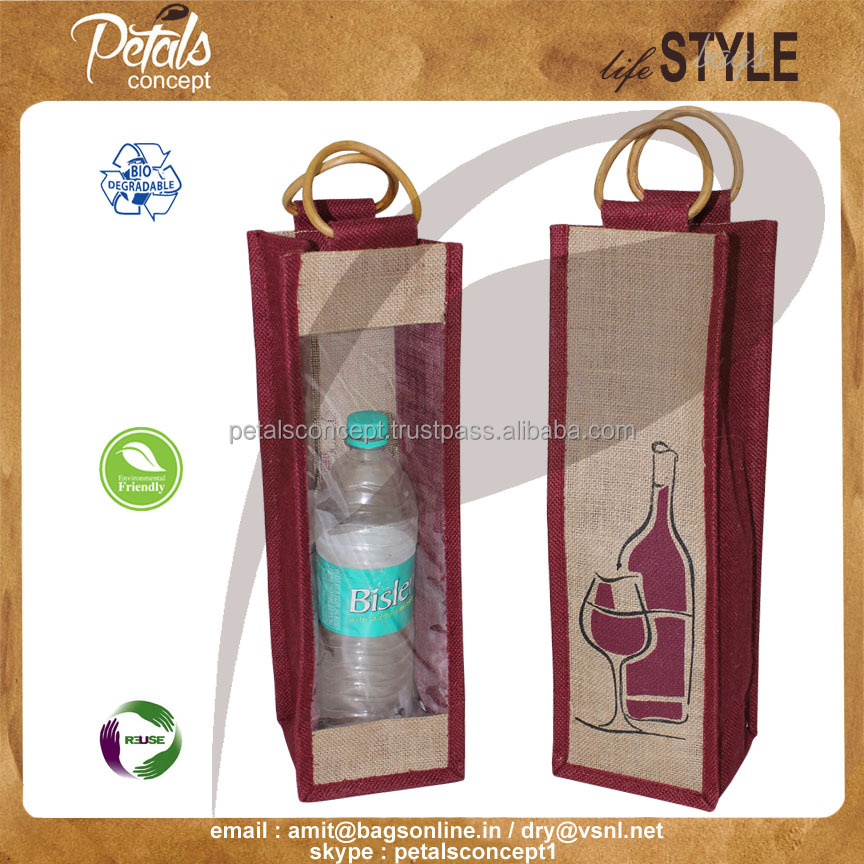 one bottle mini wine bags,jute bags wine bottle bags,fabric wine bottle bags