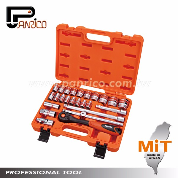 Made in Taiwan Automotive Tools 25pcs 1/2 inch Dr. Socket Wrench Set