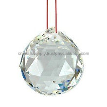 Feng Shui Hanging Sphere : Feng Shui Hanging Crystal Clear Quartz Diamond Cutting Ball : Wholesale Feng Shui Hanging Ball
