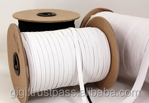 Hot Selling Flat Polyester Braided Elastic Band For Clothes