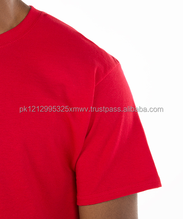 2017 Pakistan good price 95% cotton 5% spandex 160 grams Red personalized brand boys t-shirts