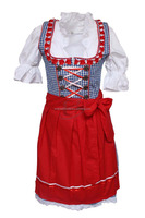 New Women Custom Cotton Polyester Trachten Mini Dirndl New Apron Drindl Custom Design Trachten (Traditional Dress)
