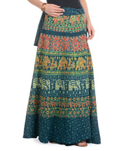 Jaipuri Sanganeri Print Cotton Magic beach Wrap Skirt