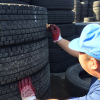 Japanese Premium Major Brands 295/80r22.5 radial truck tires, used tires and tire casings for retread, Various Grades Available