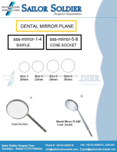 Dental mirros avión