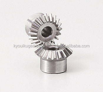 Miniature miter gear Module 0.5 Ratio 1 Carbon steel Made in Japan KG STOCK GEARS