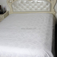 WEISDIN hot sale 5 star high quality white plain dyed jacquard jacquared bedding sheet