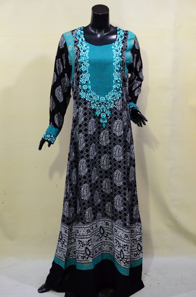 Pakistan India Maxi jubah dress muslimah clothing islamic wear for women