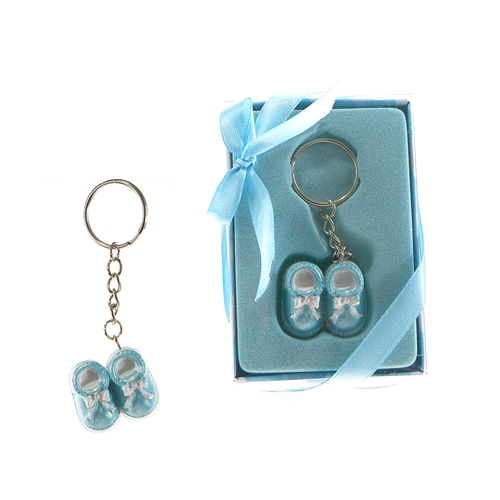 Pair of Baby Shoes Key Chain - Blue