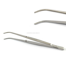 Surgical Dental Dressing Dissecting Semken Taylor Tweezers Curved 12cm / Cotton & Dressing Pliers / Dental Instruments