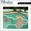 Hexagon Rubber Tiles For Children Playground
