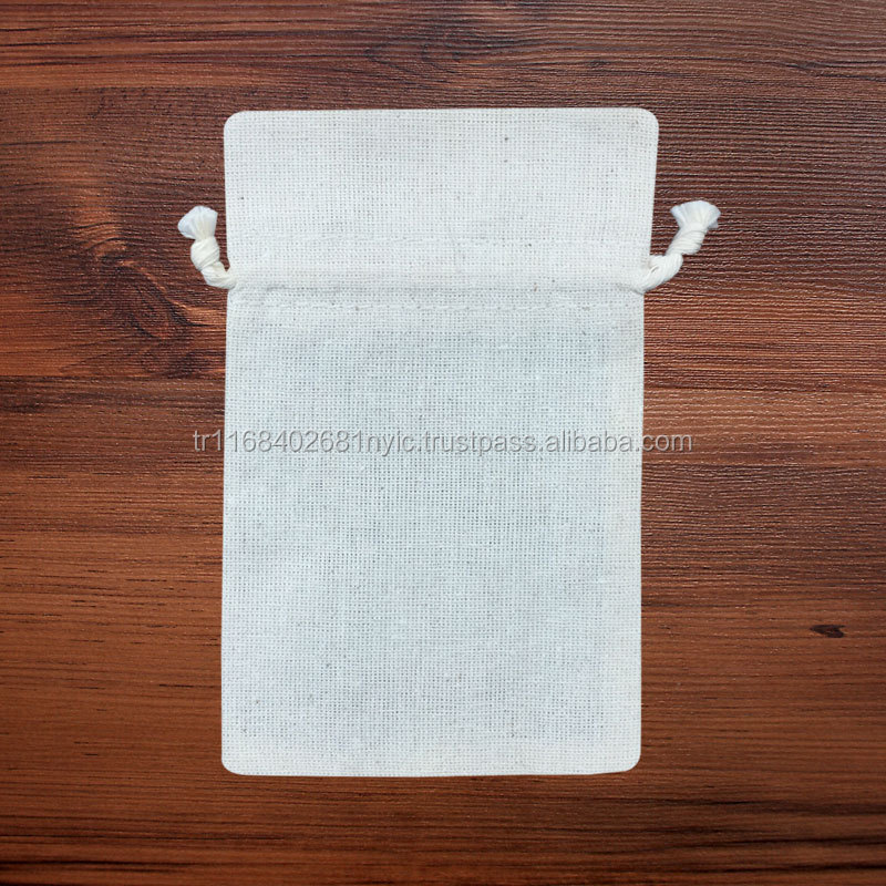 Promotional Cotton Jewellery Gift Pouch for Digital Printing