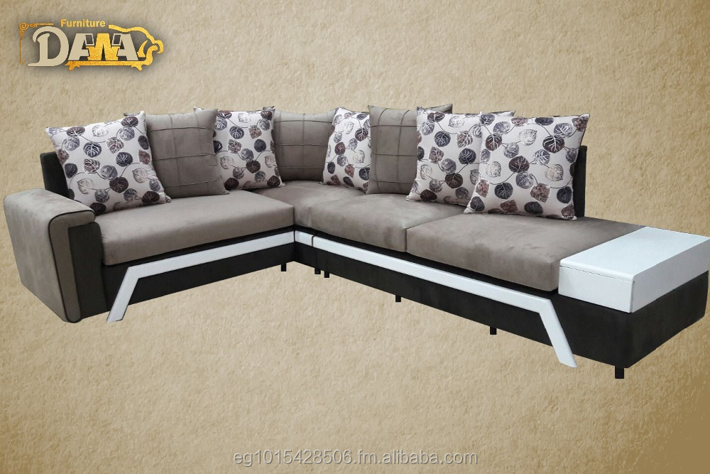 Modern Style Wood Living Room Corner Sofa