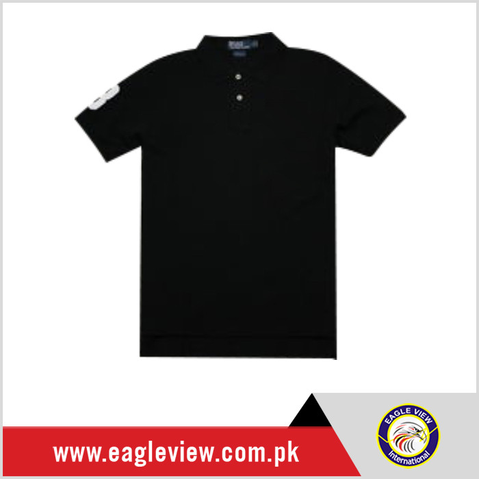 clothing miami 100% cotton polo shirt with faux leather stripe 100% polo t- shirt for men