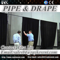 Cheap portable stage curtain backdrop pipe and drape
