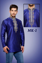 Mens Indian Ethnic Embroidered Kurtis