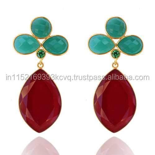 The Gopali Jewellers latest collection 2016 Womans Ruby Drop Earring