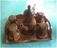 Handicraft made from coconut wooden