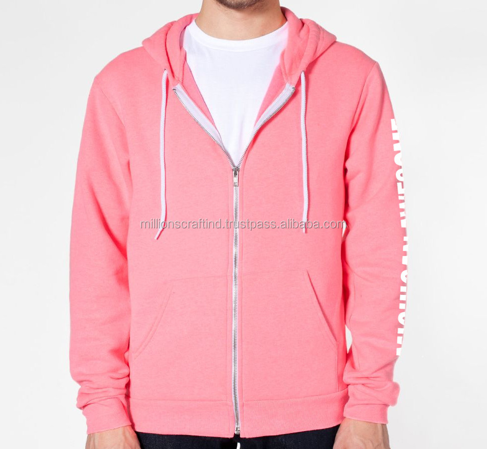 Men hoodies and sweatshirts ribbing fabric for sweatshirts,cropped color Pink