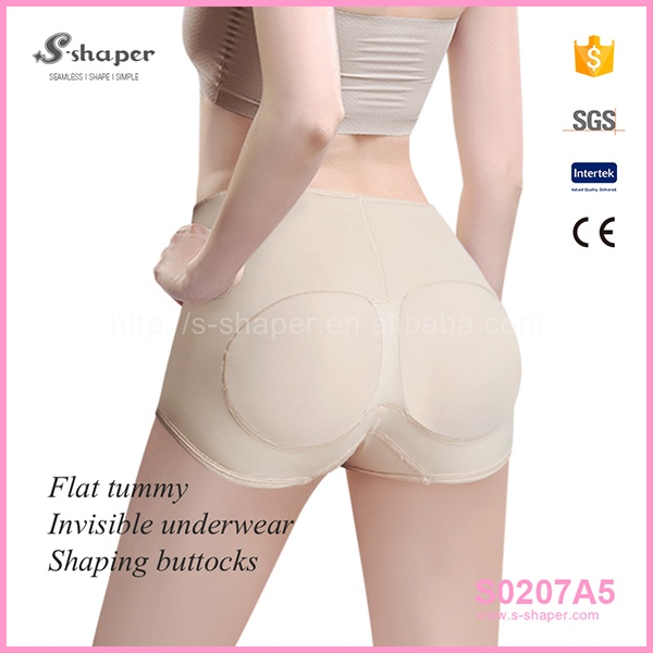 S-SHAPER Sexy Lace Transparent Panty Butt Lifter Booty Bra Shorty S0207A5