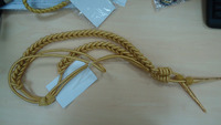 Special force golden yard knitted with metal accessories Military aiguillettes