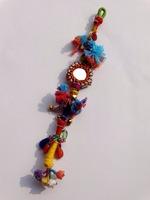 Vintage banjara mirror long Key chain/Indian banjara tassels/zip puller banjara tassel lot of 25 pcs