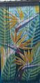 Hand painted beaded bamboo door curtain Tropical bird of paradise