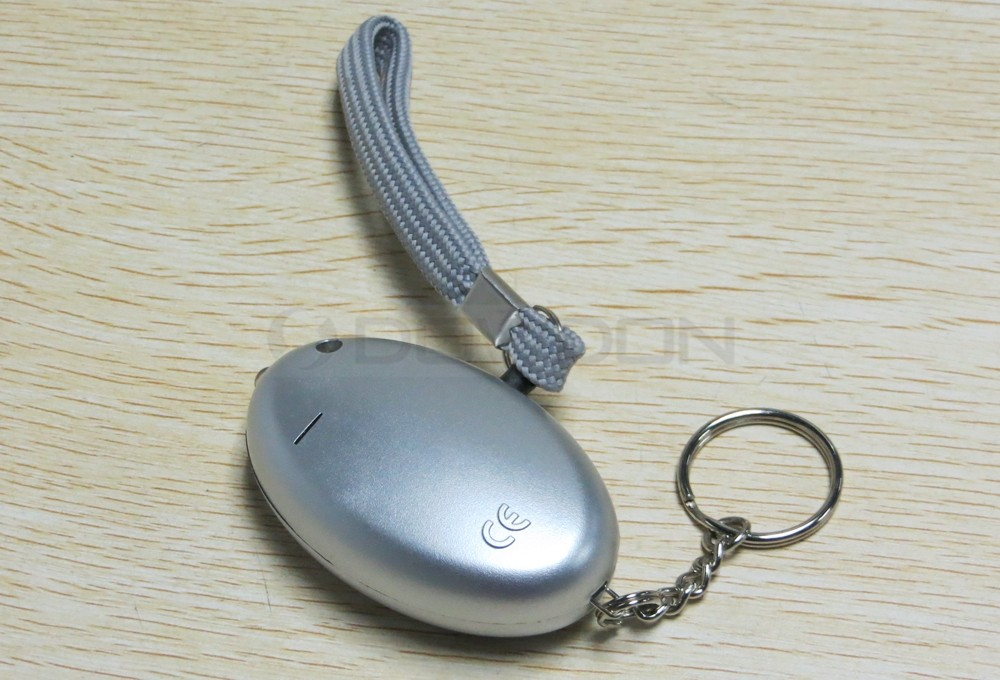 125DB Mini Personal Safety Alarm Keychain LED Anti-attack Personal Alarms