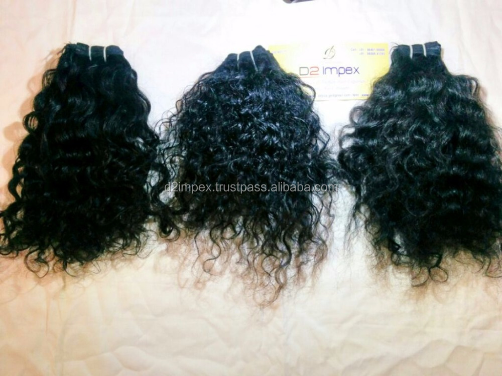 Wholesale Full Cuticle Single Drawn Hair Weave Virgin Brazilian Spiral Curl