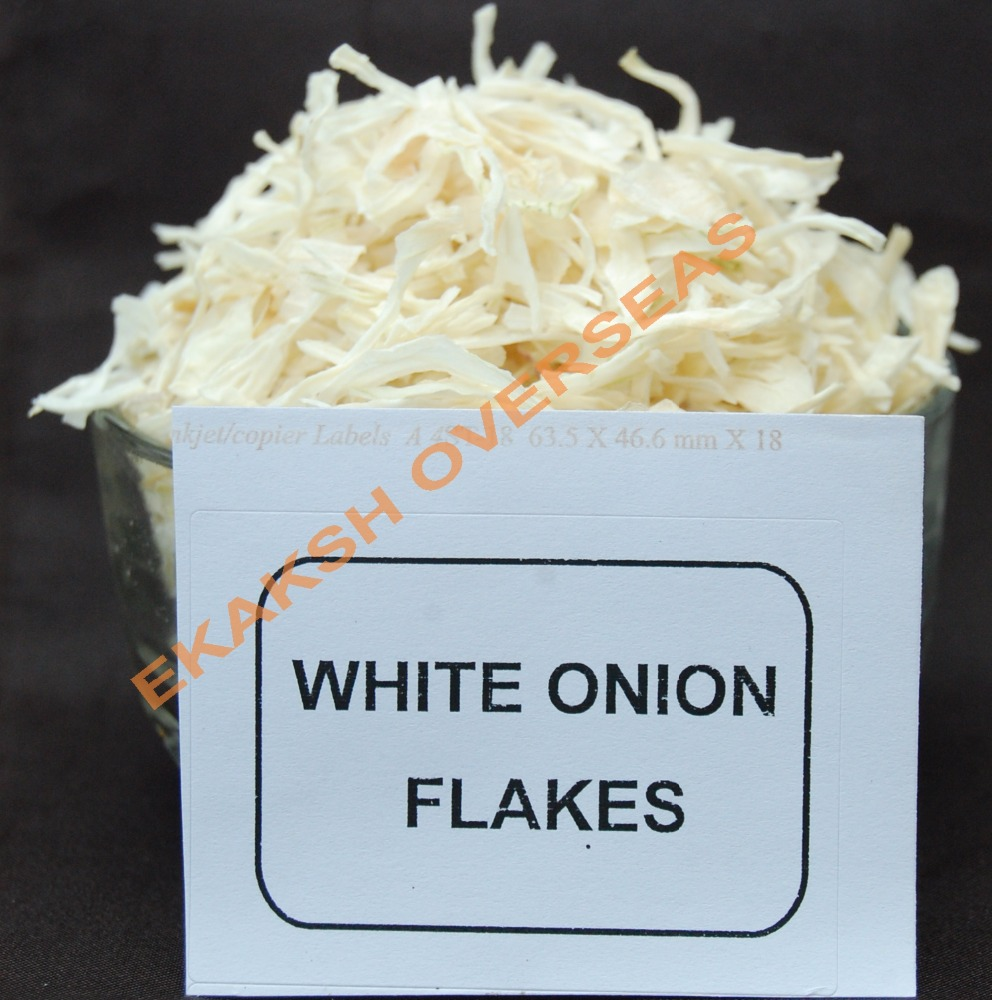Dehydrated White Onion Flakes use for cook with high spice