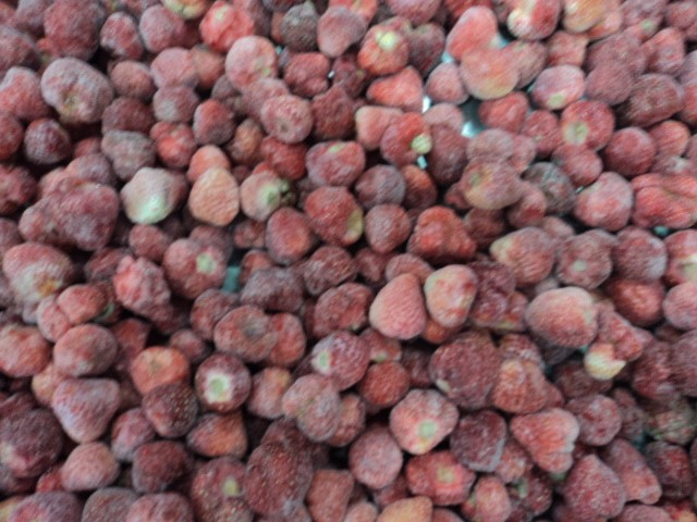 Frozen Strawberry for Jam Production