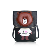 I Love Cony Bear Mobile Phone Crossbody Bag, Women New Style Shoulder Bags, Handbags
