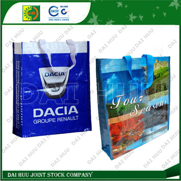 Laminated with BOPP bag, fashion bag and shopping woven bag