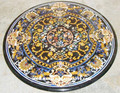 Round Inlaid Stone Table