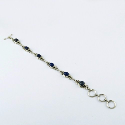 Love's Power !! Lapis 925 Sterling Silver Bracelet, 925 Silver Jewellery Wholesaler, Silver Jewellery