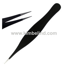black matte sharp pointed tweezers/ best quality ingrown and splinter remover tweezers/ pakistan tweezers