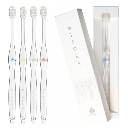 "Japanese oral care product Toothbrush Nano mineral coating ""MISOKA"" Made in Japanese craftman."
