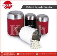 Stainless Steel Red/Black/White Colored Canister for Tea Sugar and Coffee