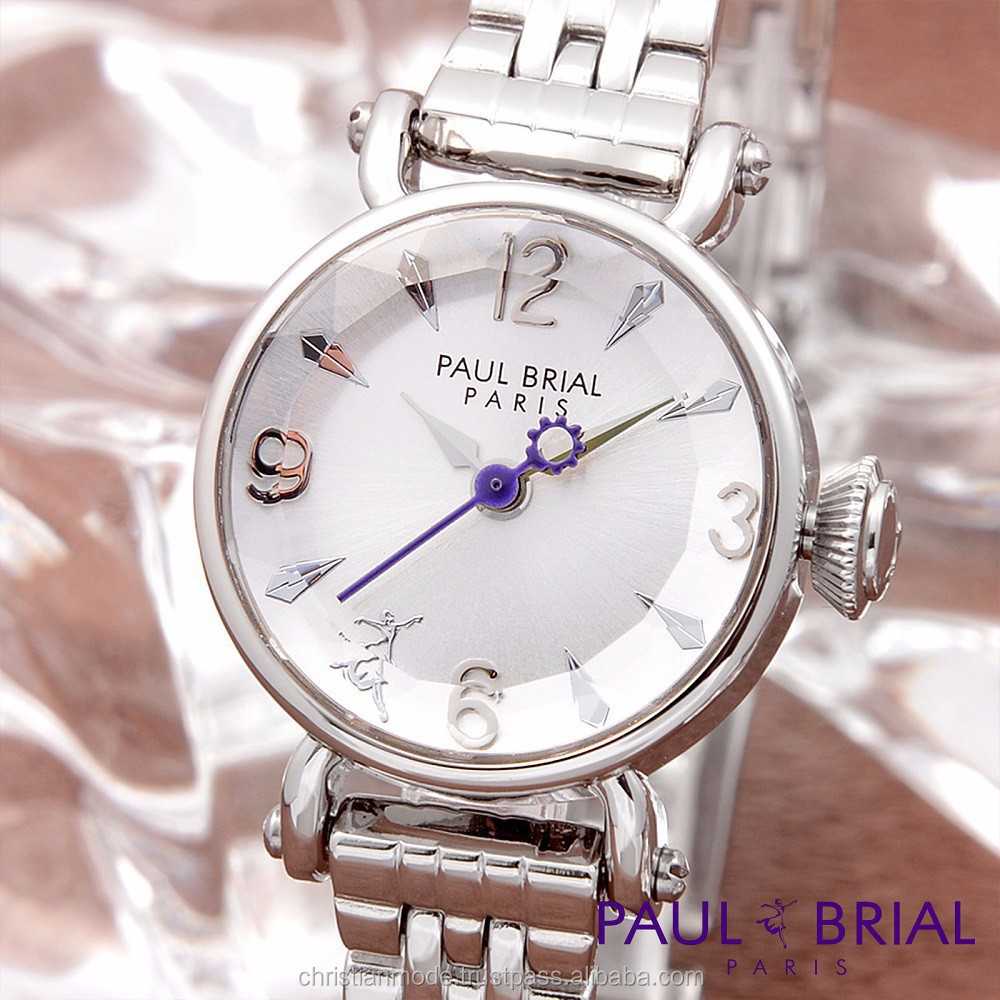 Lady Bracelet Fashion Watches Women Cutting Glass Water Resistant 30m Paul Brial south Korea Made