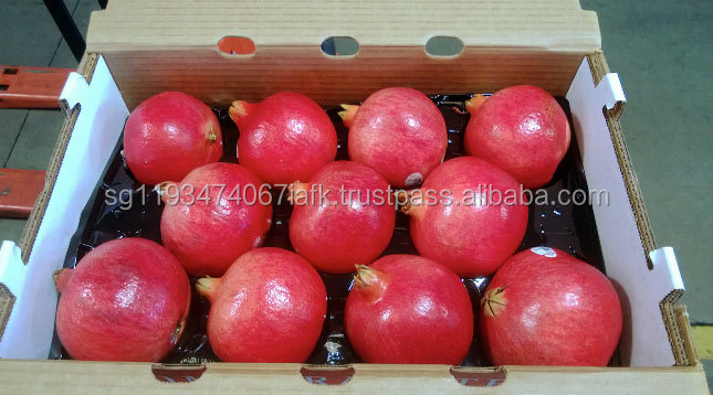 Fresh pomegranate Fruit Corrugated Box Packaging,Corrugated Paper gift Box with plastic handle