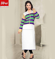 Newly FANCY PATTERN KNEE HEIGHT COTTON Kurti 2015