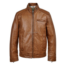 Low Price Premium Quality light brown Famous Leather Jacket pu leather/motorcycle leather jacket