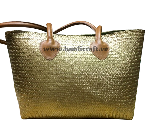 Sedge gold bags for women, leather straps design 2017 HB 2121