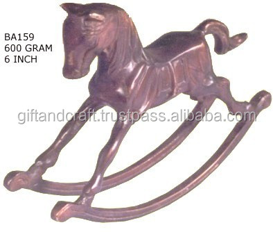 Brass Horse race vintage wildlife animal